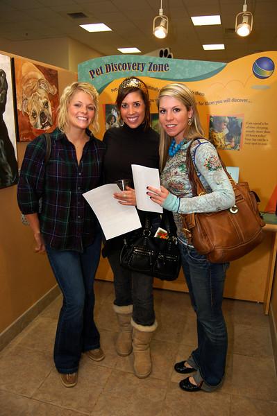 Jennifer Thomas, Brooke Barriento and Chrissie Wells