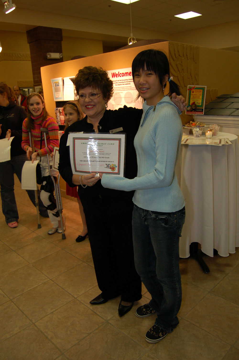 Cathy Stewart and Shirley Fung