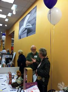 Library volunteers: Karlene Shea, Frank Maginnis, Peg McCarthy