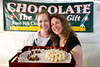 """New owner of Mukilteo's Rosehill Chocolate Co. Jan Staub (right) with marketing guru Ann Swadener enticed visitors to """"Taste of Mukilteo""""  to go tropical with """"Tahitian Vanilla"""" fudge ! All I can say is OMG - YUM!!!!!"""