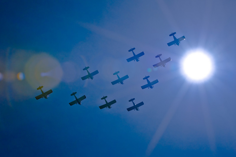 Black Jack Squadron at high noon ( well, really at 11:48 am but close enough!) at GAA Day held at Paine Field.