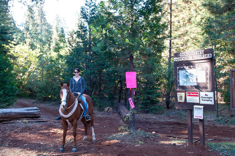 Megan and Dakota at the Gold Country Equestrian Trail Head