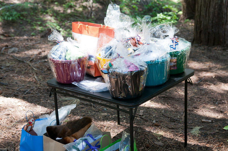 Prize Baskets filled with Goodies.