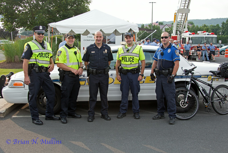 A few of the Plainville police officers present on race day.