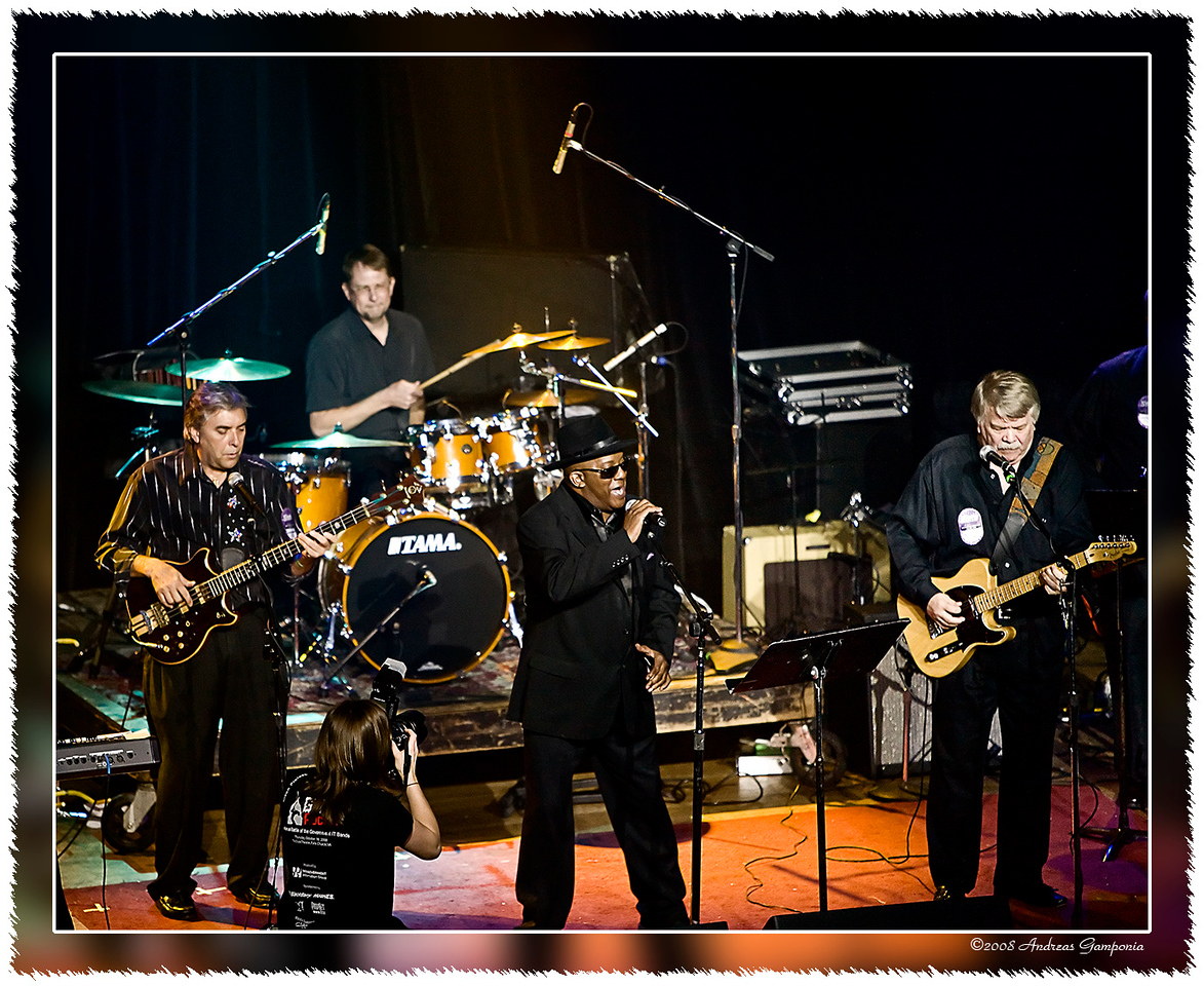 """This is the """"Eddie Becker Band"""" with executives from OMNIPLEX Coorporation for DHS, Systek and Lockheed Martin."""