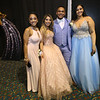 Greater Lowell Tech prom. From left, Destinee Melendez of Lowell, Jessica Paleologos of Dracut, Wesley Suarez and Marizelly Oliva, both of Lowell.  (SUN/Julia Malakie)