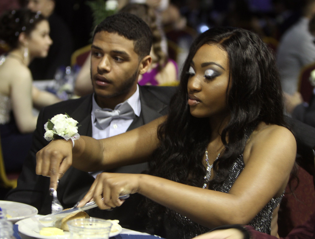 . Greater Lowell Tech prom. Mattheu Strain and Nia Welch, both of Lowell. (SUN/Julia Malakie)