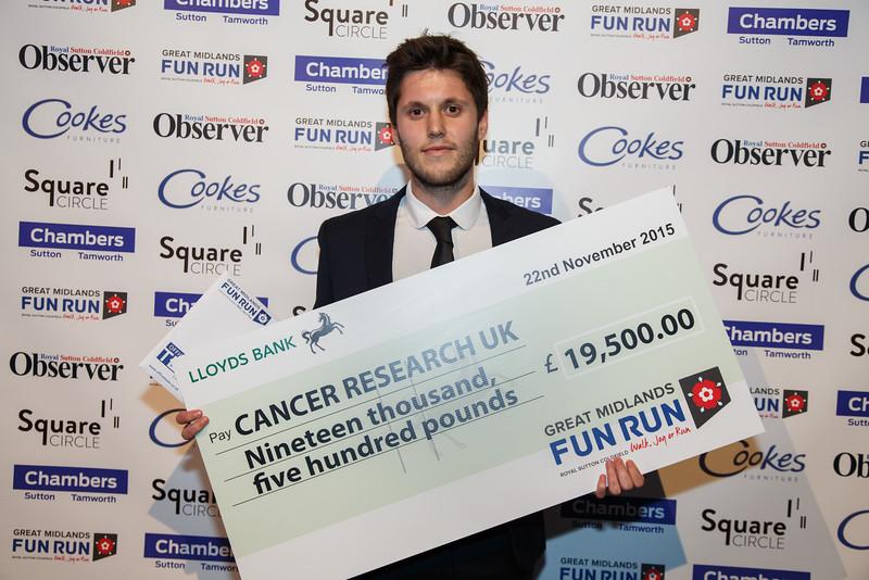 Great Midlands Fun Run Awards 2015 - Will Savage (Sports Team Executive, CRUK)
