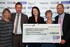 Great Midlands Fun Run Awards 2015 -  L to R - Sue Bailey (The Arthur Terry School), Neil Warner (The Arthur Terry School)r, Joanna Sulivan (Teenage Cancer Trust), Pat Little (The Arthur Terry School), Richard Gill (The Arthur Terry School)