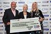 Great Midlands Fun Run Awards 2015 - L to R - Darren Price, Maggie Banks (Panceatic Cancer Research Fund), Sally Price)