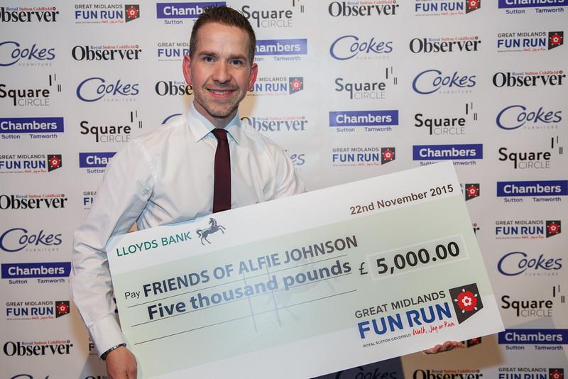 Great Midlands Fun Run Awards 2015 - Paul Johnson (Friends of Alfie Johnson)