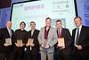 Great Midlands Fun Run Awards 2015 - L to R - Paul Smith (Taylor Fordyce), Chris Raffaelli (An Event Services), Paul Gospill (Creative Wear Ltd), Damian Lee (Big City Radio), Tristan Murtagh (Empie Cinema), Dave Cox