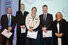 Great Midlands Fun Run Awards 2015 - L to R - Simon Hensley (Sgt Trinity Police), Stuart Foxall (Sutton Coldfield Adventure Unit), Nigel Speakman (7th Sutton Coldfield Scouts), Steve Know (West Midlands Fire Service), Jane Sutton