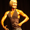 Record-Eagle/Garret Leiva<br /> Second-place finisher Tricia Felski competes in the Figure Open class at the 29th annual Grand Traverse Bodybuilding and Figure Championship, presented by Fit For You Health Club Saturday at the Leelanau Sands Showroom.