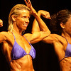 Record-Eagle/Garret Leiva<br /> Overall winner Karen Hypio competes in the Master Women class at the 29th annual Grand Traverse Bodybuilding and Figure Championship, presented by Fit For You Health Club Saturday at the Leelanau Sands Showroom. Hypio also took first place in the Master Women and Short Women classes.