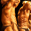 Record-Eagle/Garret Leiva<br /> Competitors in the Short Men class tighten their ab muscles at the 29th annual Grand Traverse Bodybuilding and Figure Championship, presented by Fit For You Health Club Saturday at the Leelanau Sands Showroom.