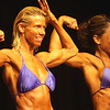 Record-Eagle/Garret Leiva<br /> Overall winner Karen Hypro competes in the Master Women class at the 29th annual Grand Traverse Bodybuilding and Figure Championship presented by Fit For You Health Club Saturday at the Leelanau Sands Showroom. Hypro also took first place in the Master Women and Short Women classes.
