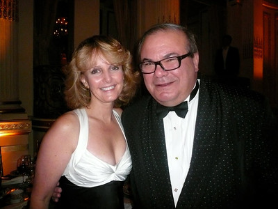 Laurie Kelley with artist Hunt Slocum