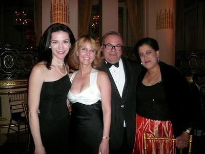 Marlborough Art Gallery director Janis Cecil, Laurie Kelley, artist Hunt Slocum and Save One Life board member and vice president of Marlborough Gallery Tara Reddi