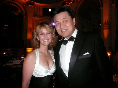 Laurie with colleague Ray Liu of Grifols