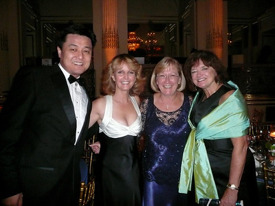 Laurie with friends from Grifols: Ray Liu, Kathy Didier, and Virgina Kraus
