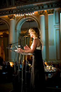 Laurie's speech thanks her donors, including many factor manufacturers and distributors.