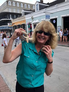 HOPE 2019 16 Laurie and albino python