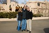 Robin, Doug, Tony outside the Sagebrush the morning after..