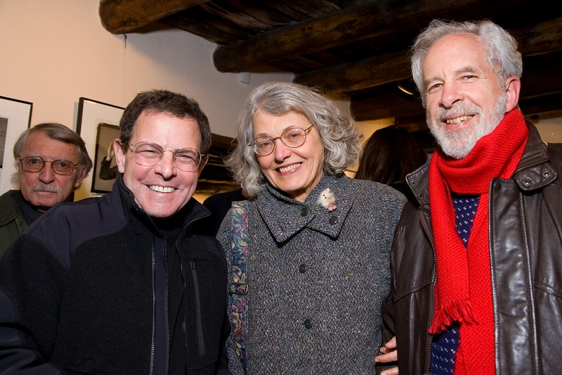Taos artists Howard Greene, LInda Thompson, Terry Thompson