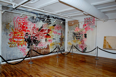 Collabortive Artwork  of Futura 2000, Fab 5 Freddy, Francesco, Clemente Nesto, Jean Michel0 Basquiat, Chris Parker, Ramallze and Johnny Dynell