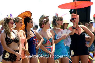 Vintage bathing swimwear contest in Galveston, Texas. May 18 2013