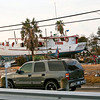 First views of the havoc. Entering Galveston Sept 20, 2008.