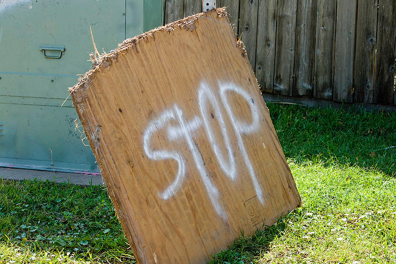 Improvised Stop sign