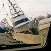 First views of the havoc. Entering Galveston Sept 20, 2008.