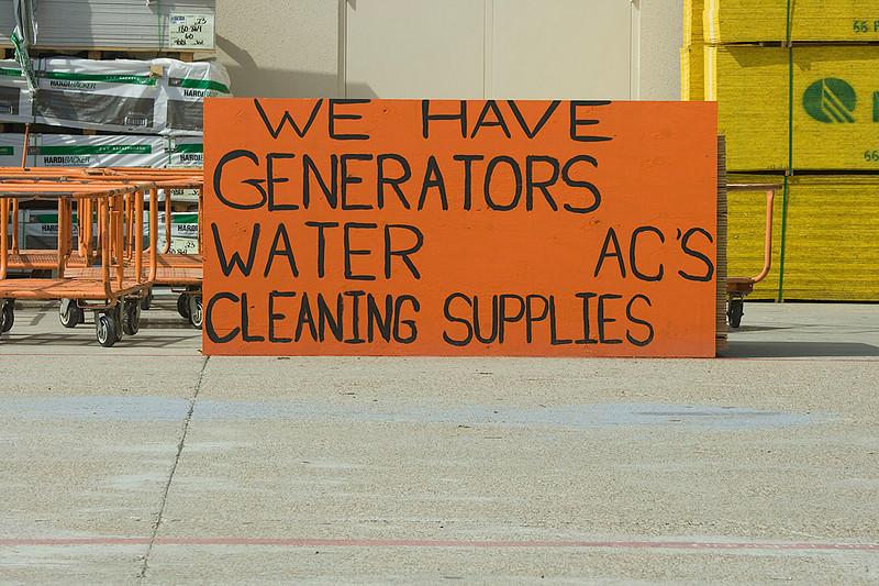 Homemade sign outside Home Depot