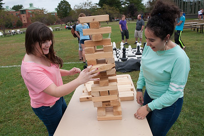 Games on the Green at Westfield State University. WSU students enjoy games on the green, Friday September 21, 2017