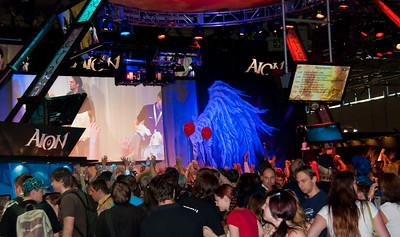 Aion booth at GamesCom