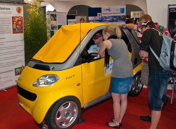 Half of a Smart car at GamesCom