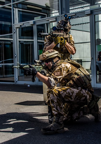 Military guys @ Gamescom 2012