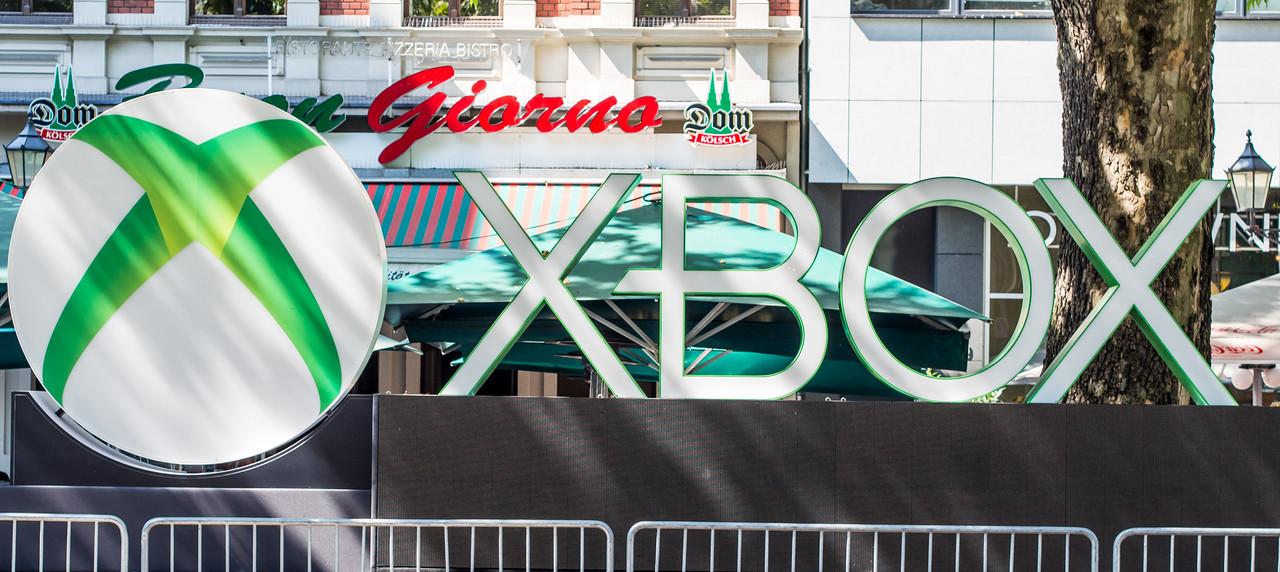 Xbox logo at Rudolfplatz, Gamescom 2013
