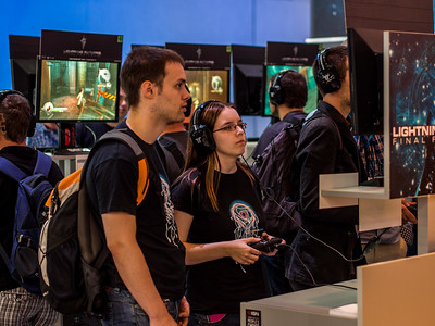 Gamers at Gamescom 2013