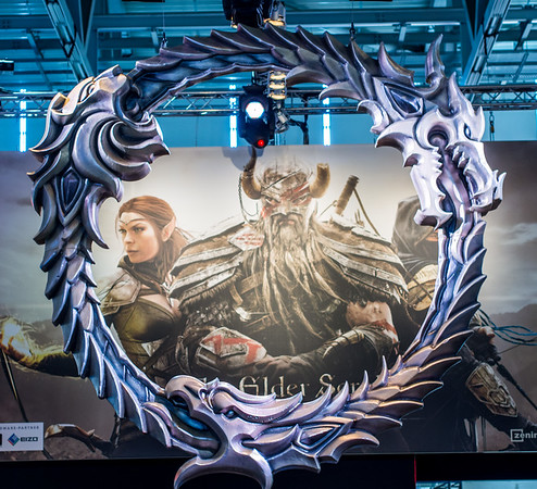 The Elder Scrolls logo at Gamescom 2013