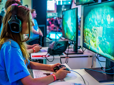 Gamer at Gamescom 2015
