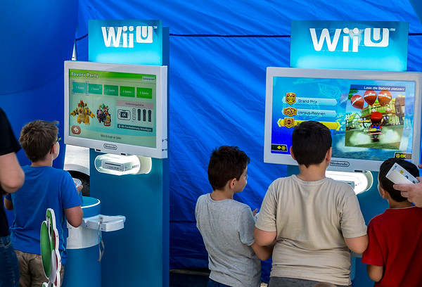 Nintendo booth at Neumarkt, Gamescom 2015