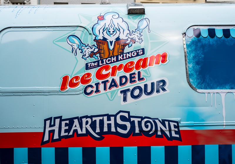 Hearthstone ice cream truck at Gamescom 2017