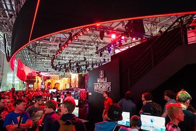 Wargaming booth at Gamescom 2017