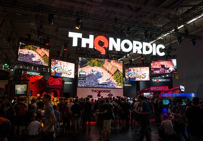 THQ Nordic booth at Gamescom 2017