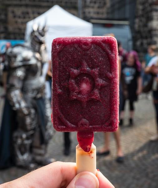 Hearthstone ice cream at Gamescom 2017