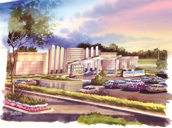 An artist rendering of the proposed Lawrence County Downs and Casino.