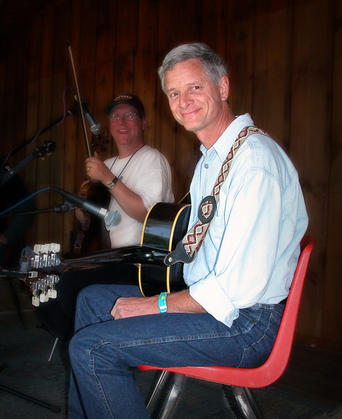 Our dear friend, Gary Evers, performing at Larryfest. circa 2004